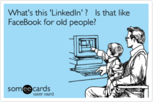 Is LinkedIn just Facebook for Old People?