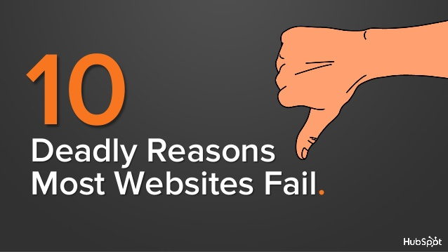 10 deadly reasons websites fail