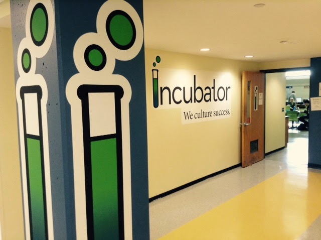 FLCC Incubator Science and Technology Study Space features Award Winning Logo